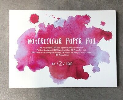 Watercolour Papier Paper Pad Aquarell Malblock Block A4 20 Seiten