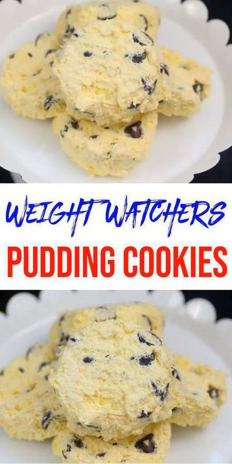 AMAZING WW diet cookies - Easy vanilla chocolate cip pudding WW cookies - Food and drinks interests Weight Watcher Desserts, Weight Watchers Snacks, Petit Déjeuner Weight Watcher, Weight Watcher Cookies, Plats Weight Watchers, Weight Watchers Meal Plans, Weight Watchers Breakfast, Weight Watchers Fluff Recipe, Ww Recipes