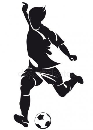 Vector Football Soccer Player Running Silhouette With Ball Stock Vect Ad Soccer Player Vector Fo Soccer Silhouette Running Silhouette Soccer Art