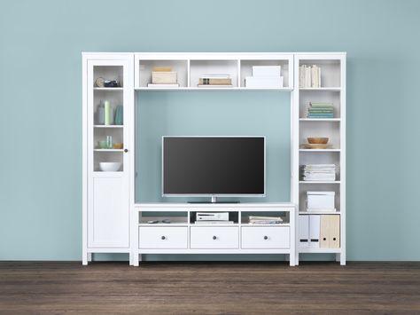Hemnes Ikea Tv Kast.Hemnes Tv Meubel Wit Gebeitst 148x47x57 Cm Ikea Hemnes En Meubels