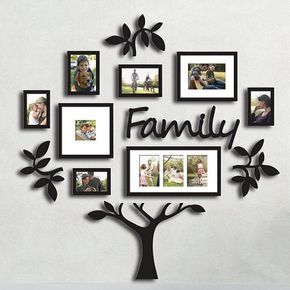 Family Tree Photo Frame Set College Frame Wall Decoration Combination Pvc Picture Frame Selfie Gallery Collage With Full Size Hanging Template Wall Mounti Family Tree Photo Frame Frames