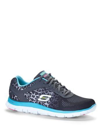e715bf49a494 Wide Width Skechers Leopard Print Sneakers