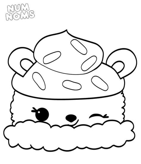 Learn How To Draw Raspberry Cream From Num Noms Num Noms Step By Step Drawing Tutorials Emoji Coloring Pages Coloring Pages Coloring Books
