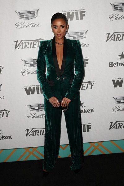Emerald Green Velvet Pantsuit
