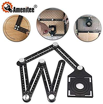 Universal Angleizer Ruler Template Tools with Multi Angle Measuring Full Metal
