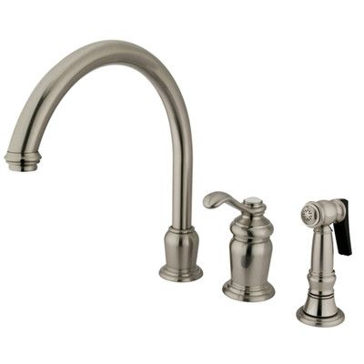 Kingston Brass Templeton Single Handle Kitchen Faucet Single Handle Kitchen Faucet Widespread Kitchen Faucet Kitchen Faucet