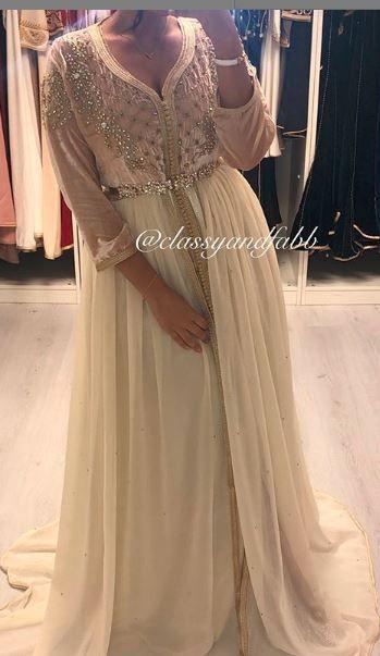 قفطان مغربي بتشكيلة جديدة لسنة 2019 عصرية و مطروزة بألوان متناسقة Formal Dresses Fashion Prom Dresses