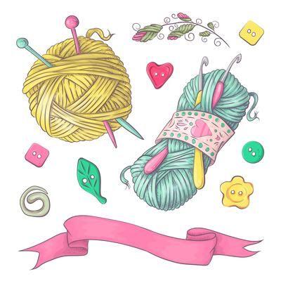15 Yarn clipart knit for free download ... | Knitting kits, Yarn images,  Yarn ball
