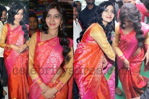 Samantha Banaras Sari with Full Hands Blouse