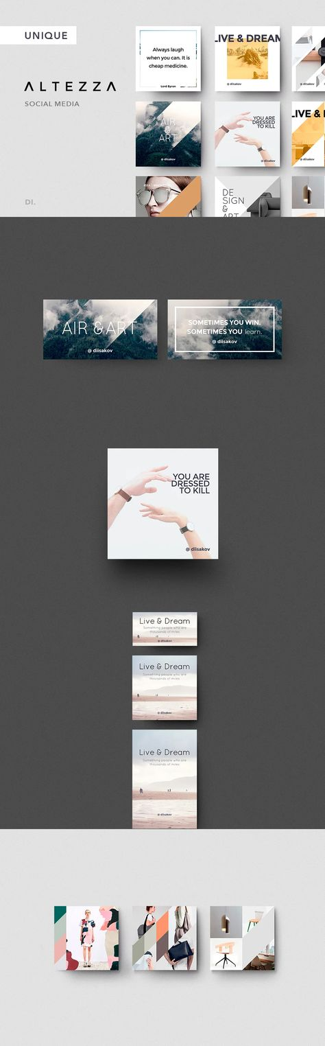 ALTEZZA Social Media Design + Bonus PSD