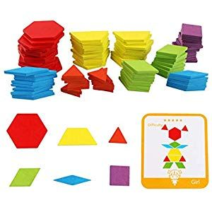 Wooden Animal Pattern Blocks Puzzle Box Toys Challenge IQ Kids Creative Toys