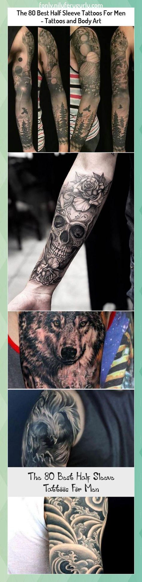 The 80 Best Half Sleeve Tattoos For Men - Tattoos and Body Art #The #Best #Half #Sleeve #Tattoos #For #Men #Tattoos #and #Body #Art
