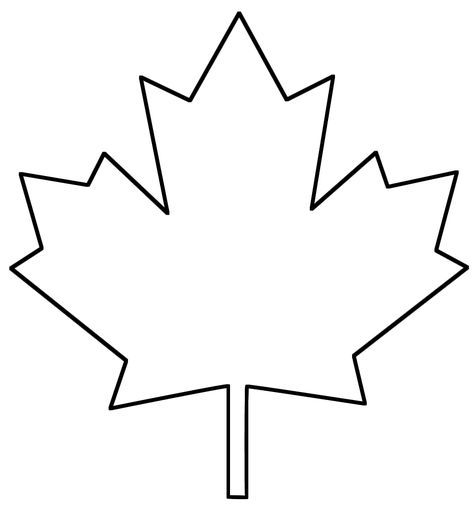 Maple Leaf Not For Quilting But I Might Be Able To Use It As A Stencil Outline For Quilting Maple Leaf Template Leaves Template Free Printable Leaf Template