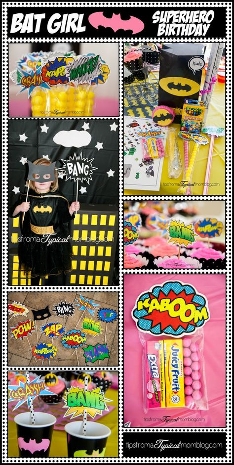 Superhero Birthday Party Ideas for a Girl Who Loves Bat Man. Great FREE Printables and Games!