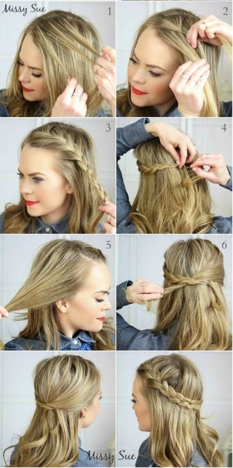Schnelle Frisuren Fur Mittelstarkes Haar Frisuren Stile 2018 Hair Styles Easy Hairstyles For Medium Hair Medium Hair Styles
