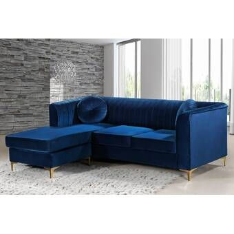 Amazing Suzanne Symmetrical Sectional Blue Velvet In 2019 Machost Co Dining Chair Design Ideas Machostcouk