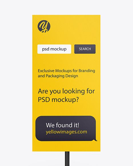 Stand Mockup In Indoor Advertising Mockups On Yellow Images Object Mockups In 2021 Company Presentation Mockup Creative Words