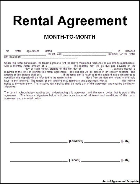 124 best rental agreement images on Pinterest Free stencils - business rental agreement template