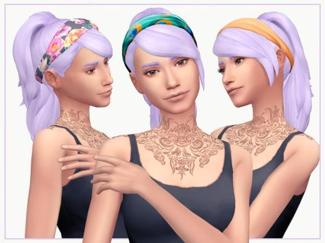 Sims 4 CCs - The Best: Hadley Hair for Females by