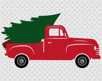 Image Result For Old Truck Hauling Christmas Tree Clipart Black And White Christmas Tree Truck Christmas Red Truck Christmas Truck