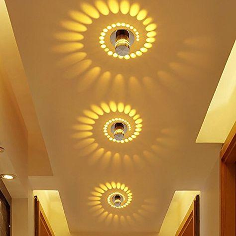 Korridor Deckenstrahler LED Ganglichter Oberfl/äche Montiert Effekt Licht Creative Deckenleuchte Wandleuchten f/ür Badezimmer Restaurant Wohnzimmer Treppen Eingang Lampe Gelb