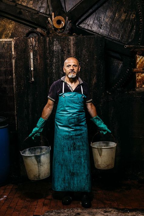 Working man photographed by Michael Piazza.   See more of Michael Piazza's portrait photography online   SAINT LUCY Represents #portraitphotography #portrait #portraitphotographer #work #bucket
