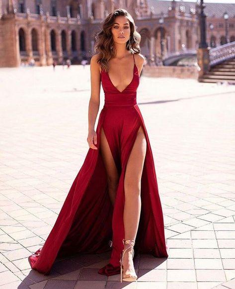 Thigh high slit Dress