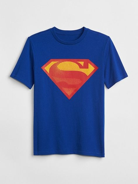 Superman Great Britian Shield Youth T-shirt