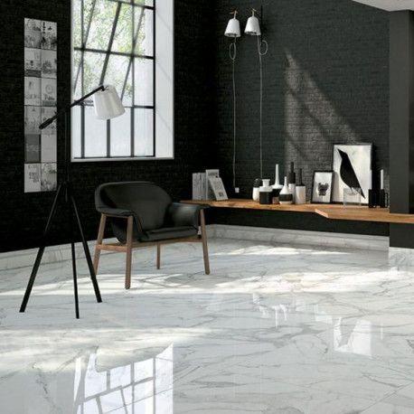 Un Marbre Blanc Nervure De Gris Un Grand Classique Le Carrare Est Un Marbre Italien De Qualite Avec D Carrelage Marbre Blanc Carrelage Marbre Marbre Blanc