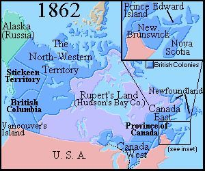 Map Of Canada 1862 Map of Canada 1862 Brief History of Canada 1800 to 1866 | Canadian