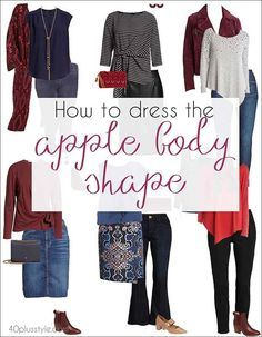 Dressing for the apple body shape can sometimes be a challenge. Here are my tips on how to dress the apple body shape and look fabulous! Apple Body Shape Outfits, Apple Shape Fashion, Dresses For Apple Shape, Clothes For Apple Shape, Dress Apple Shape, Plus Size Body Shapes, Plus Size Bodies, Apple Body Type, Apple Body Shapes