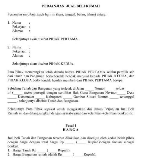 Contoh Surat Perjanjian Jual Beli Tanah Adat Contoh Surat