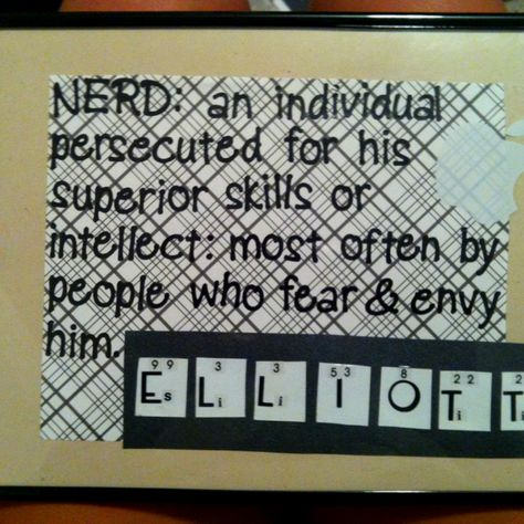 Birthday Present I Made For My Nerdy Science Loving Boyfriend Nerd Periodictable Diy