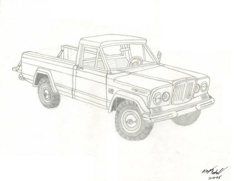 Gladiator Truck For The Jeep Coloring Book Pinterest Page Jeep