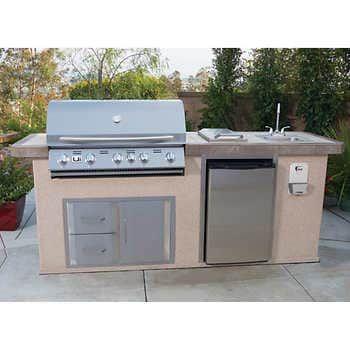 Kitchenaid Stone Island 9 Burner Grill In 2021 Outdoor Kitchen Island Outdoor Kitchen Outdoor Kitchen Design