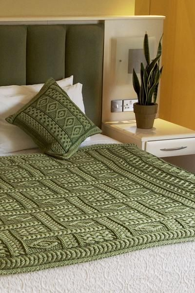 The Two Tone Aran Plated Throw is a beautiful piece of craftsmanship that would be a welcome addition to any home. The stitching is incomparable and the design is a neat pattern of some of the more interesting Aran knitting you will find anywhere. All pieces are created in Ireland and still carry the meaning behind the