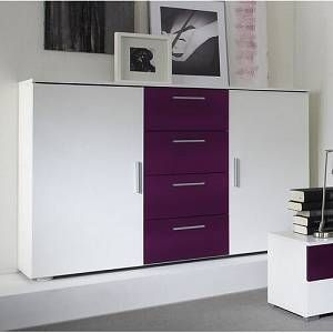 Sideboard Mercury Row Colour White Purple White Purple Size 92cm H X 132cm B X 38cm T In 2020 Beige Drawers Homestead Living Storage Spaces