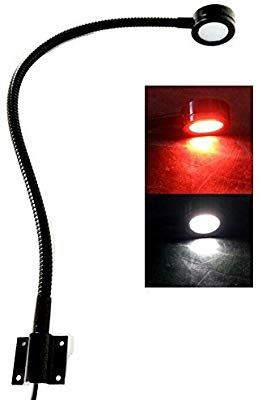 Marine 12v Led White Red Light 20 Inch Gooseneck Arm Dimmable Lamps Flexible Reading Chart Light For Boat Rv Caravan Dimmable Lamp Light Red Lamp