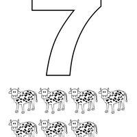 Desenho De Numero 7 Com Figuras Para Colorir Figuras Para