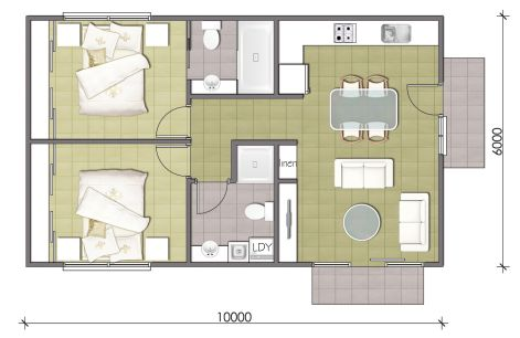 2 Bedroom Granny Flat Designs Master Granny Flats Guest House Plans House Plans Tiny House Design
