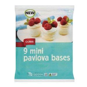 Coles Mini Pavlova Bases Coles Online Mini Pavlova