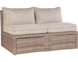 Lounge Set Zalma 3 Teilig Aus Polyrattan Sand Kaufen Bei Obi Zweisitzer Sofa Lounge Outdoor Sofa