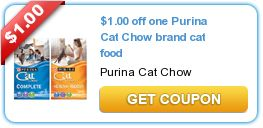 1 00 Off One Purina Cat Chow Brand Cat Food Printable Coupons