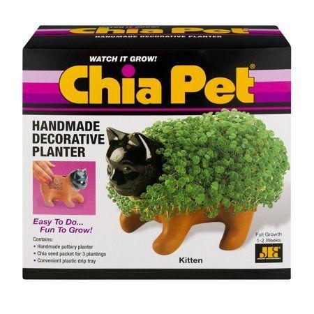 As Seen On Tv Chia Pet Kitten Handmade Decorative Planter