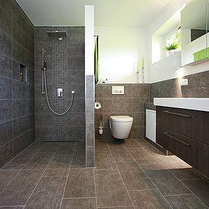Bodengleiche Dusche Thermostatarmatur Fliesenmosai