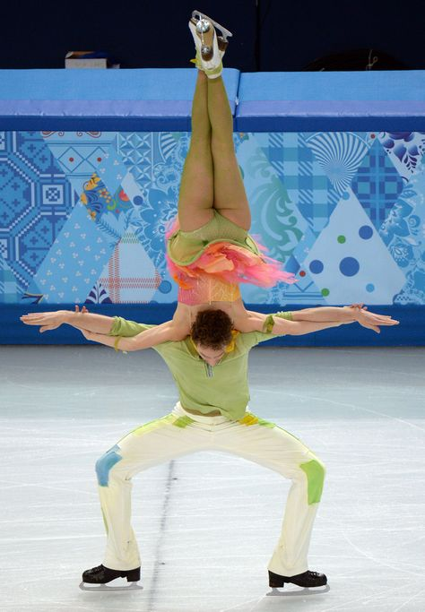 Representing France, in Ice Dancing Free Skate, at Sochi Olympic Games.