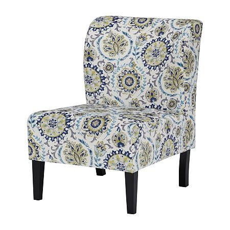 Signature Design By Ashley Triptis Slipper Chair Printed Accent
