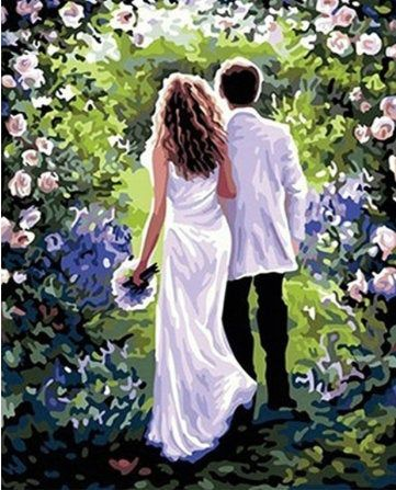 DIY oil painting by numbers Romantic Lover Frameless Paint by number On Canvas Wall Pictures for Living Room Wall Art Home Decor