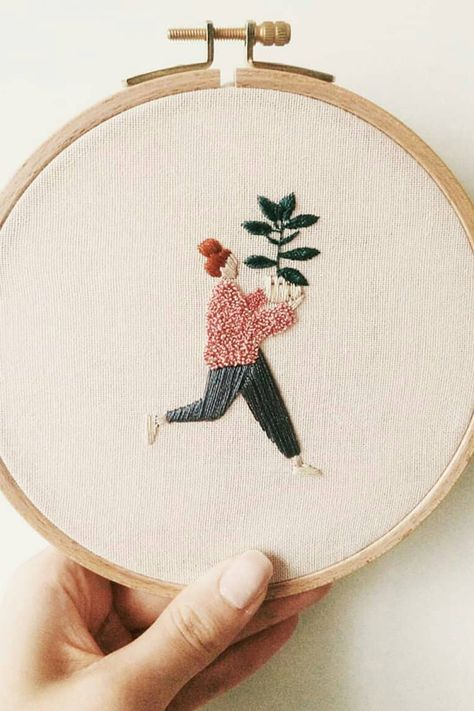 Exquisite Embroideries Celebrate Proud Plant Parents with Their New Babies