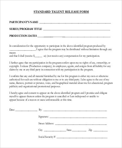 Standard Release Form Reasons Why Standard Release Form Is Getting More Popular In The Past Standard Form Form The Past